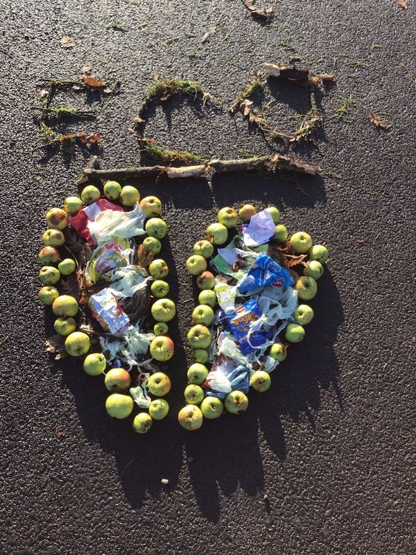 An ' Eco Broken Heart'  caused by Litter! (Superb!)