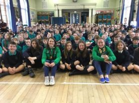 Irish World Cup Hockey Silver Medalists Visit Strandtown.