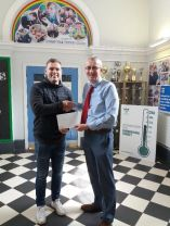 Darren Cave Delivers a Celebrity Letter for a Y7 Pupil.